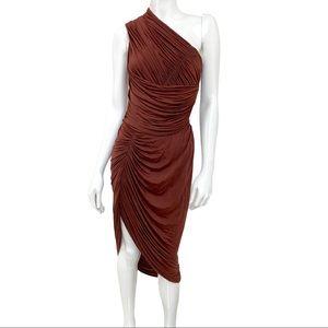Alexander Wang Draped One-shoulder Ruched Dress 4